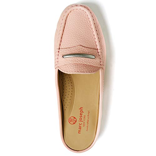 MARC JOSEPH NEW YORK Women's Leather Made in Brazil Luxury Mule Slide with Penny Detail