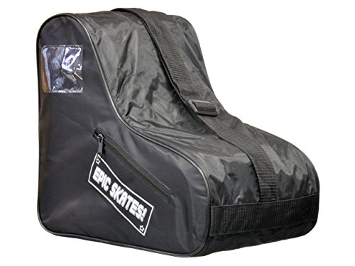 In Line Skates Bag - Epic Skates Standard Black Skate Bag, One Size