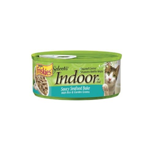 Friskies Indoor Saucy Seafood Bake Canned Cat Food - 24 / 5.