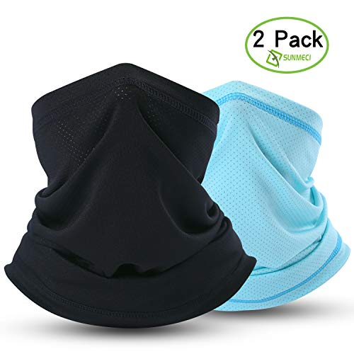 (SUNMECI Summer Face Mask Breathable Sun Dust Protection Neck Gaiter for Fishing Hiking Camping Outdoors Versatile Headwrap)