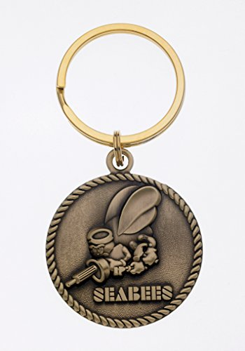 United States SEABEES Bronze Military Key Ring ()