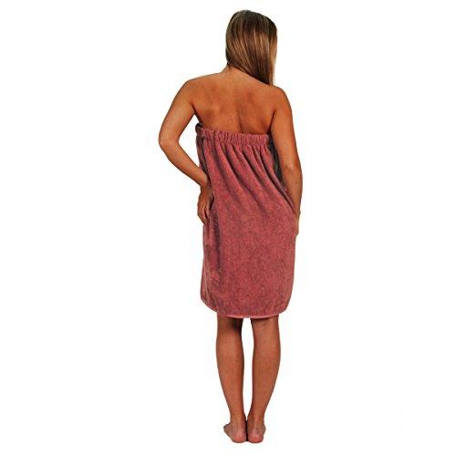 Pareo toalla de baño bordada (450gr/m² Pavot, Marsala, 70 x 140 Marsala