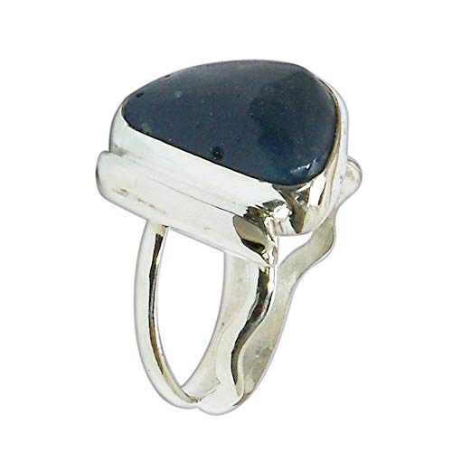 - Leland Blue Stone and Sterling Silver Ring, Hand Crafted One of a kind, Size 6-1/4 r625lbsf3018