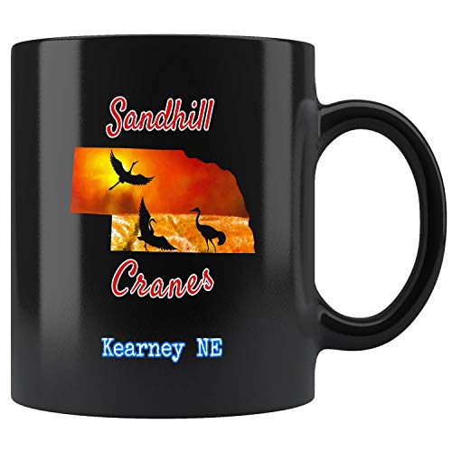Nebraska Sandhill Crane - Kearney Nebraska Sandhill Cranes Mug Coffee Mug 11oz Gift Tea Cups 15oz
