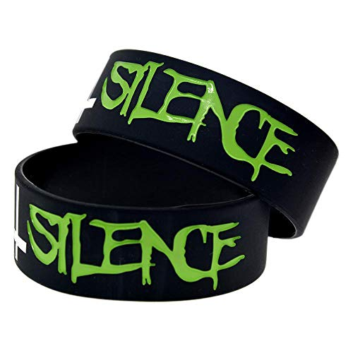 DuDuDu Silicone Bracelets with Logo 'Suicide Silence' Rubber Wristbands for Kids Motivation for Friends Set of 10 Pieces Birthday Gift