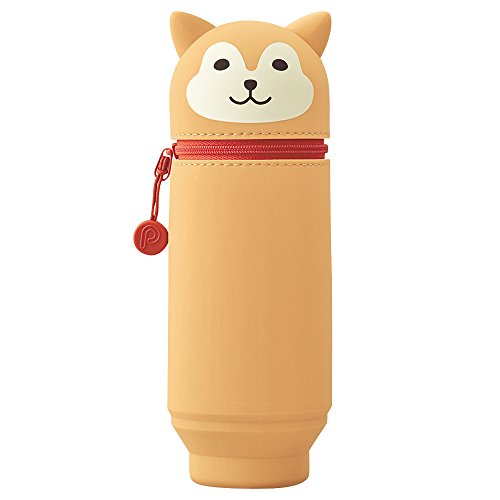LIHIT LAB. PuniLabo Stand Up Pen Case , Dog, 2.9 x 8.3 inche