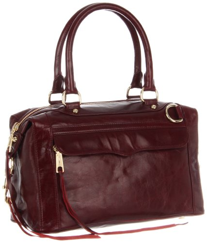 Rebecca Minkoff Mab Mini Light Gold Hardware H004I01C Shoulder Bag,Burgundy,One Size