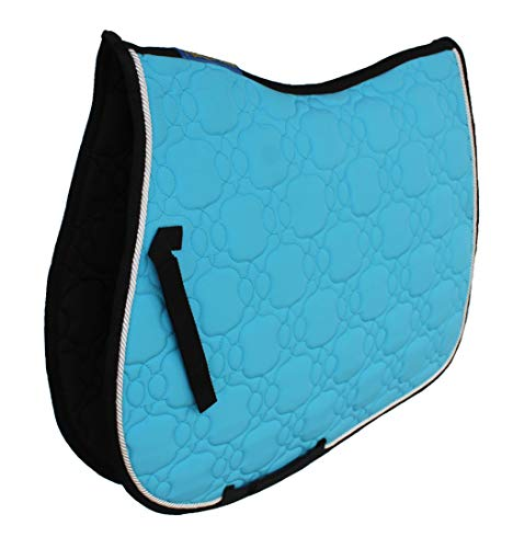 Challeger Horse Saddle Pad English All-Purpose Shock Absorbing Quilted Turquoise 72139TR