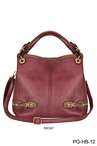 Simply Noelle Zipper Hardware Hobo Bag, Whiskey