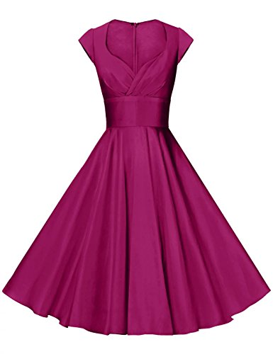 GownTown Womens Dresses Party Dresses 1950s Vintage Dresses Swing Stretchy (50s Party Dress)