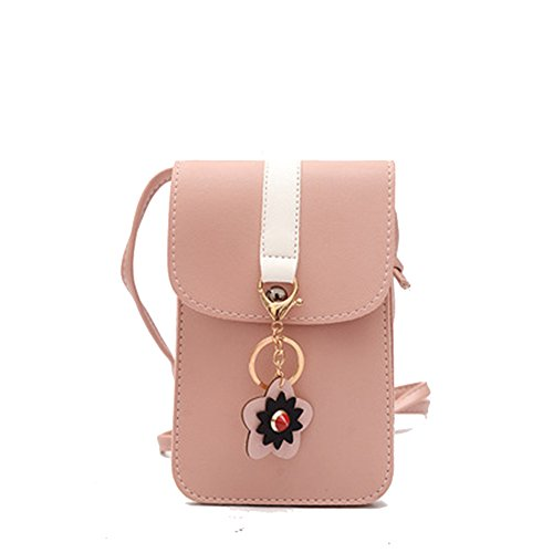 Pouch Mini ZOONAI Cellphone Flower Pink Shoulder Bag Purse Crossbody Change Wallet HnzAwP