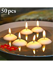 JUSTDOLIFE Floating Candle Flameless Waterproof Tealight Mini Candle For Hotel
