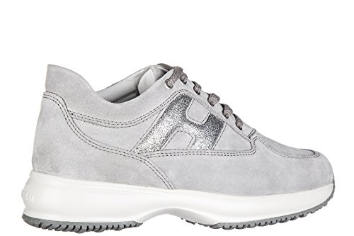 Hogan chaussures enfant baskets sneakers filles en daim interactive h frustellat