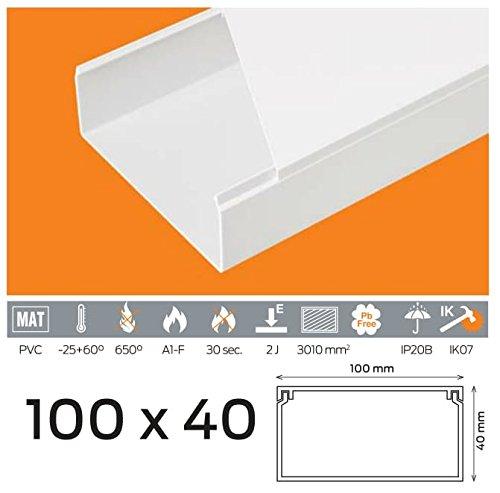 (4, 30 EUR/m) 10 m de câ ble Canal 100 x 40 mm PVC couleur Blanc 30EUR/m) 10m de câble Canal 100x 40mm PVC couleur Blanc Verschiedene Marken