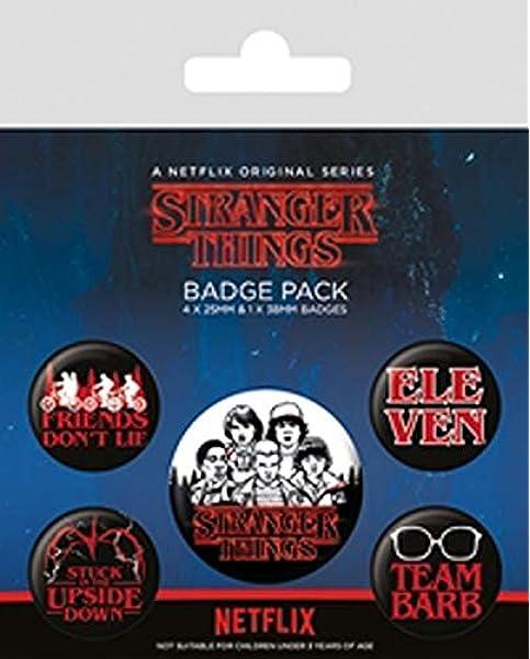 Pyramid Pack Chapas Stranger Things Logo, Multicolor (BP80656): Amazon.es: Juguetes y juegos