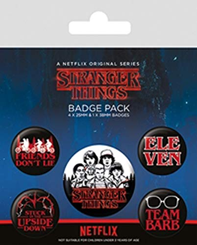 Pyramid Pack Chapas Stranger Things Logo, Multicolor (BP80656)