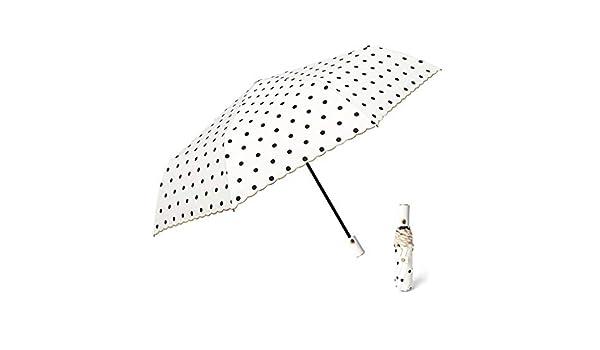 ZPE Windproof /& Water-Resistant Parasol Umbrella Automatic Open Sun Umbrella Anti-UV Womens Potable Triple Folding Umbrella for Business Travels Black Dots