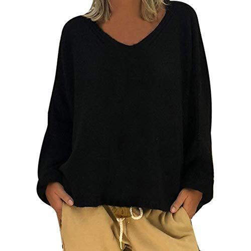 Winter Lunga Pullover 3xl Felpa Donna V Anteriore Nero Maglione Sleeve Sweater Marine1 Wrap Da Dimensione Lanlern Con Scollo Maglietta A Donna Manica Allentata Blusa Maglie Colore SXXFHnxqr