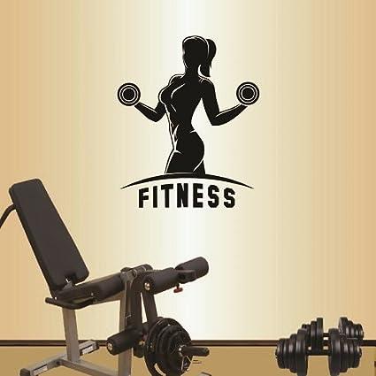 Wall vinyl decal home decor art sticker fitness sign girl woman