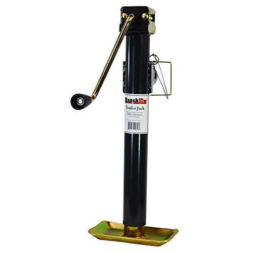 RanchEx 102824 Trailer Jack - Tubular Mount Side Wind 5,000 lb Lift Capacity 15'' Lift Height by RanchEx