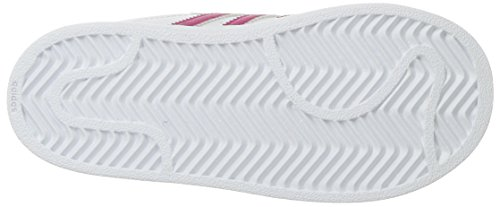 Adidas Originals Baby Superstar CF I Sneaker, White/Bold Pink/White, 6 M US Toddler
