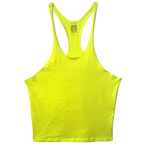 nvw Mens Muscle Stringer Tanktop Medium Lime