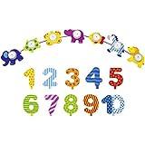 Goki Geburtstagszug Tierparade Geburtstagskette Tier Kette mit Zahlen 1-10 - Die LuLuGoS