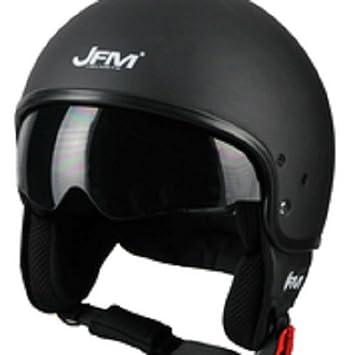 Casco economico visierino JFM Helmets negro mate Talla XL
