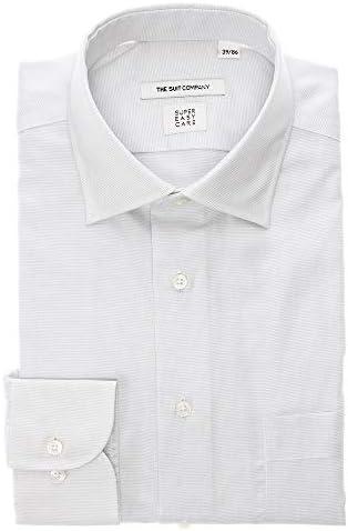 (ザ・スーツカンパニー) SUPER EASY CARE・再生繊維/ワイドカラードレスシャツ 織柄 〔EC・FIT〕 サックスブルー×ホワイト