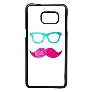 Samsung Galaxy Note 5 Edge Case Black,Cell Phone Case for Samsung Galaxy Note 5 Edge Pink Mustache SDIHIH9114769