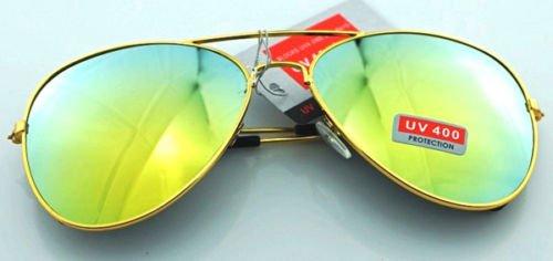 JUJU MALL-Unisex Vintage Retro Women Men Glasses Aviator Mirror Lens Sunglasses - Costas Repair Sunglasses