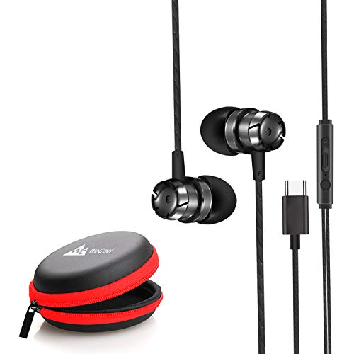LD WeCool Mr Bass Snug Fit Metallic in Ear Earphones for Mobile with Mic Headphones for Mobile Earphones for Mobile Free Carry Case Type C