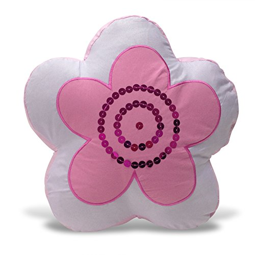 Beco Home Children's Collection: Decorative Accent/Throw Pillow, Pink Flower by Beco Home