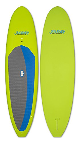 Journey Stand Up Paddle Boards EPS/Epoxy Paddle Board with LiftSUP Easy Carry Handle, Lime, 10'6'
