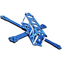 Crazepony QAV215 FPV Racing Drone Frame Carbon Fiber Quadcopter Frame kit Like GEP220 TX5 X210 QAV-X 220 QAV-R 250(Blue)