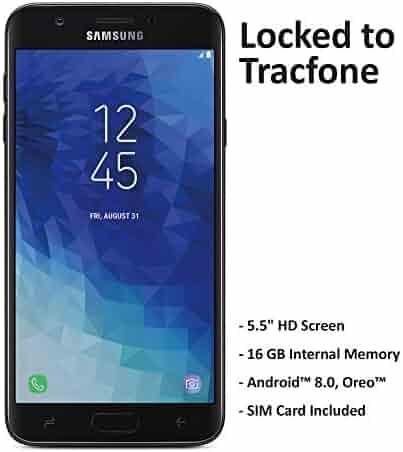 TracFone Samsung Galaxy J7 Crown 4G LTE Prepaid Smartphone (Locked) - Black - 16GB - Sim Card Included - CDMA