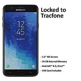 ($50 eGift Card Promotion) TracFone Carrier-Locked Samsung Galaxy J7 Crown 4G LTE Prepaid Smartphone – Black – 16GB – Sim Card Included – CDMA