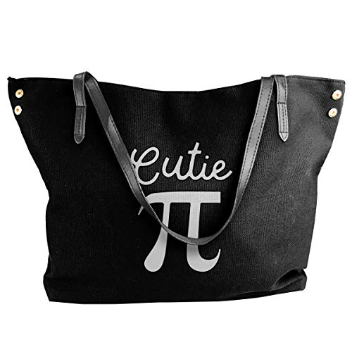 Women's Girls Canvas Shoulder Handbags,Cutie Pi Symbol Pie Stylish Travel Bags