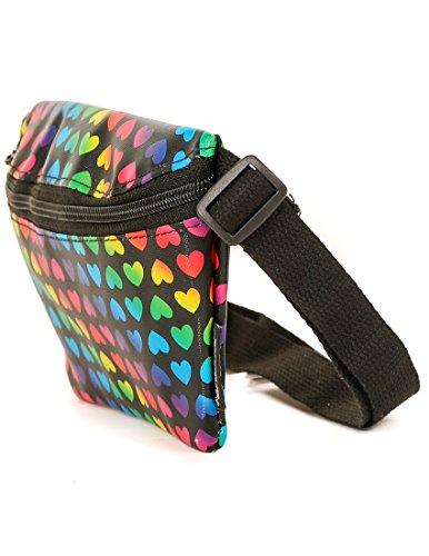 FYDELITY Fanny Pack Belt Bag Ultra Slim Cute LGBT Gay Pride Flag Rainbow Heart