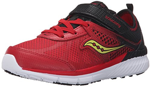 Saucony Volt Alternative Closure Sneaker (Little Kid), Red/Black, 11 M US Little Kid
