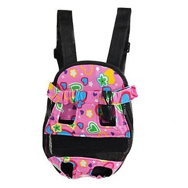 Quick shopping Pet Dog Canvas Backpack Pink Black