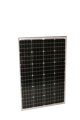 Solmida 100 Watt Monocrystalline Solar Panel | RV, Van, Camping, Boat, Prepper, Survival | Charge 12V Batteries, Outdoor High-Efficiency Energy | Snow, High Wind and Weather Resistant by Solmida