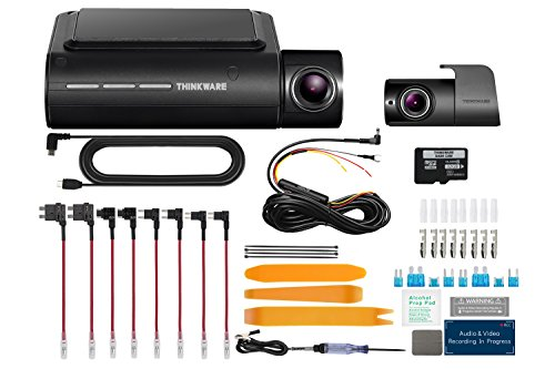 THINKWARE F800 PRO 2 Channel HD Dash Camera Including 32GB Micro SD Card with Hardwiring Kit and Install Tool Set