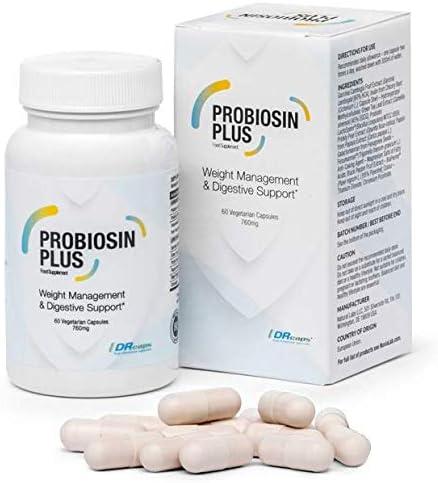 Probioxsin Plus – Das beste Probiotikum, das die Gewichtsabnahme unterstützt! Probiotische Gewichtsabnahme & Darmpflege, Premium Basispaket 60 Kapseln / 760 mg