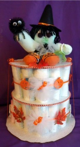 Amazon Fall Witch Halloween Diaper Cake Baby Shower Gift