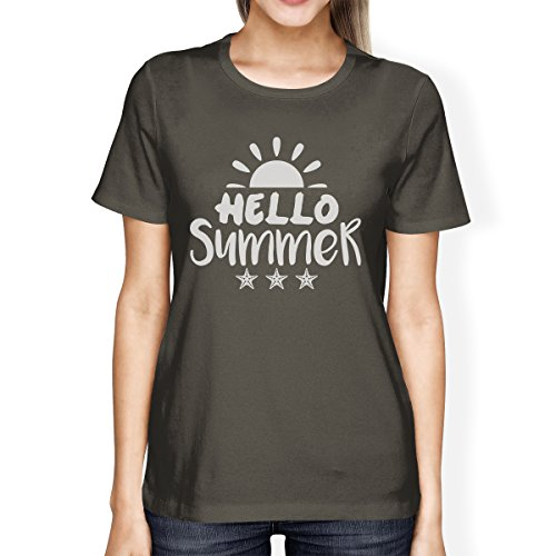 para Hello camiseta corta Summer de Sun mujer manga Printing 365 7xA5qFF