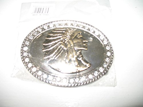 Belt Apache - Gold Silver Diamonds Pewter Indian Cherokee Apache Belt Buckle