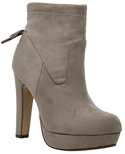 Ankle Clay Bootie c Heel Zip Su Shoes MVE Boots Side Chunky Womens 17wE1qzR