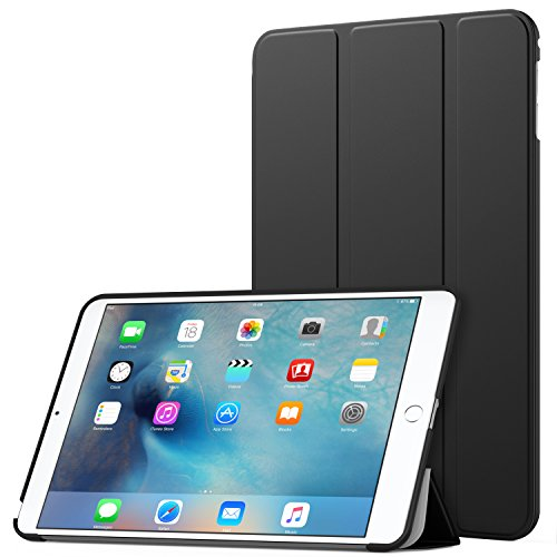 MoKo iPad Mini 4 Case - Slim Lightweight Smart Shell Stand Cover Case With Auto Wake / Sleep for Apple iPad Mini 4 (2015 edition) 7.9 inch iOS Tablet, BLACK
