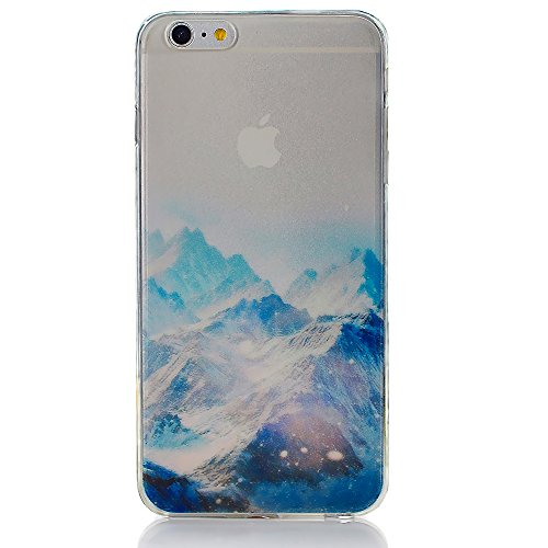iPhone 6 6S Case ycmcover Semi Transparent Matte Finish Heavy Duty Hard Back Cover Case with TPU Soft Bumper Snow Mountain -